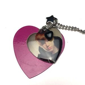 Young Justin Bieber Metal Necklace